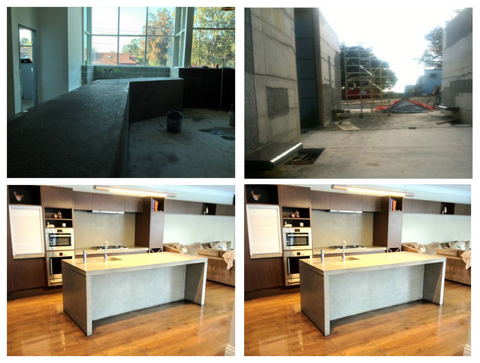 Concrete Bench Tops and Sandstone Polishing Sydney
